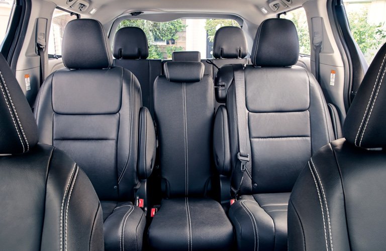 Rear two rows of seats inside 2019 Toyota Sienna