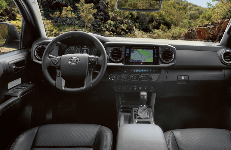 Front console of 2019 toyota tacoma