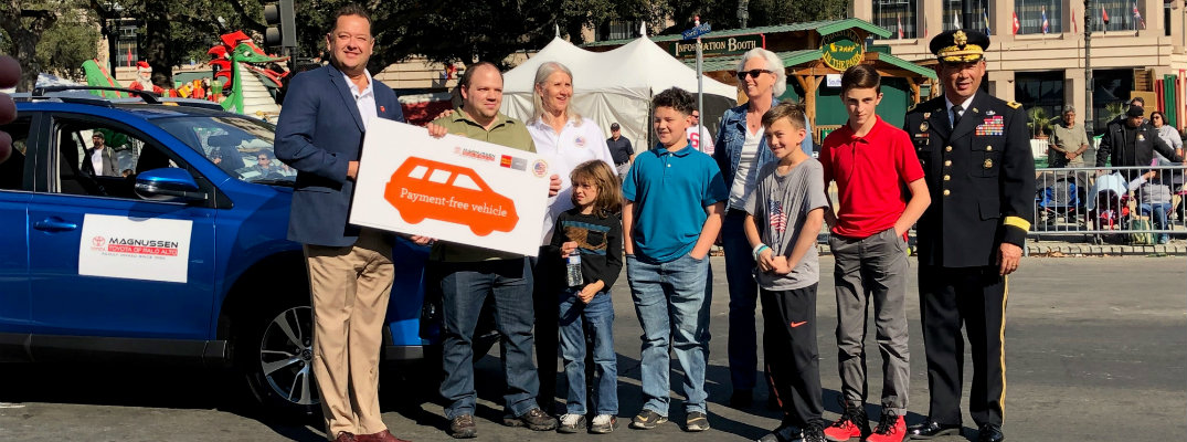 Toyota Palo Alto Donates 2018 Toyota RAV4 to Veteran at San Jose Veterans Day Parade