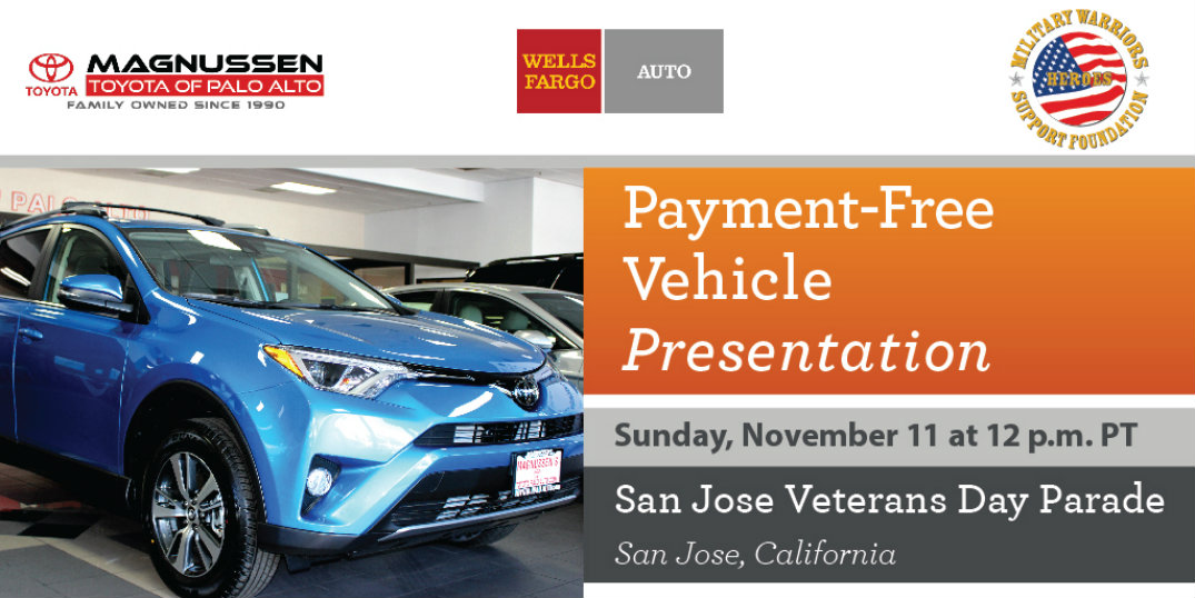 Toyota Palo Alto to Sponsor Vehicle Donation to Military Warriors Support Foundation