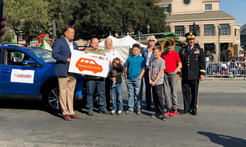 Army Specialist Charles McCulley with TPA members at San Jose Veterans Day Parade