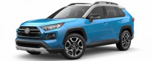 2019 Toyota RAV4 in Blue Flame with Ice Edge Roof