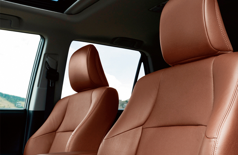 Front two seats of Toyota 4Runner