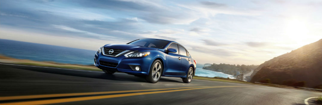2018 Nissan Altima on the road