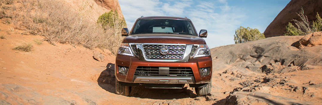 2020 Nissan Armada driving through desert