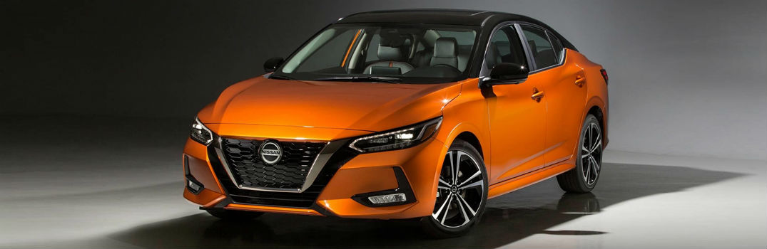 orange 2020 Nissan Sentra exterior profile