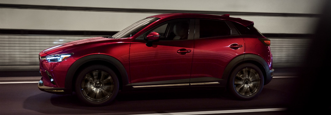 2019 Mazda CX-3 exterior side red