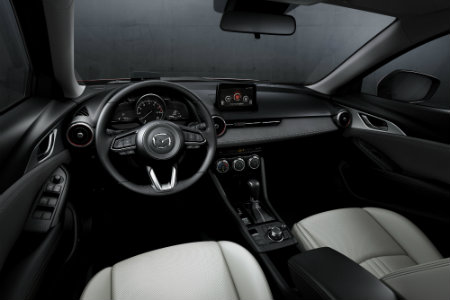 2019 Mazda CX-3 interior front seats and dash
