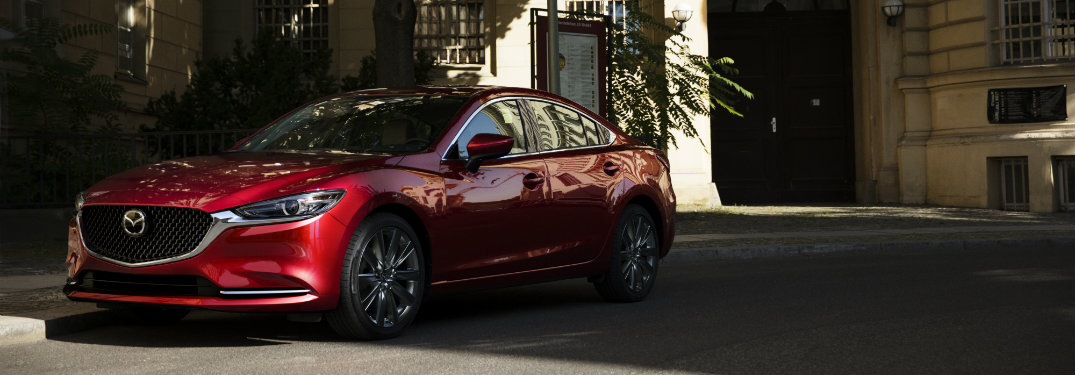 2018 mazda6 parked in the shade side view