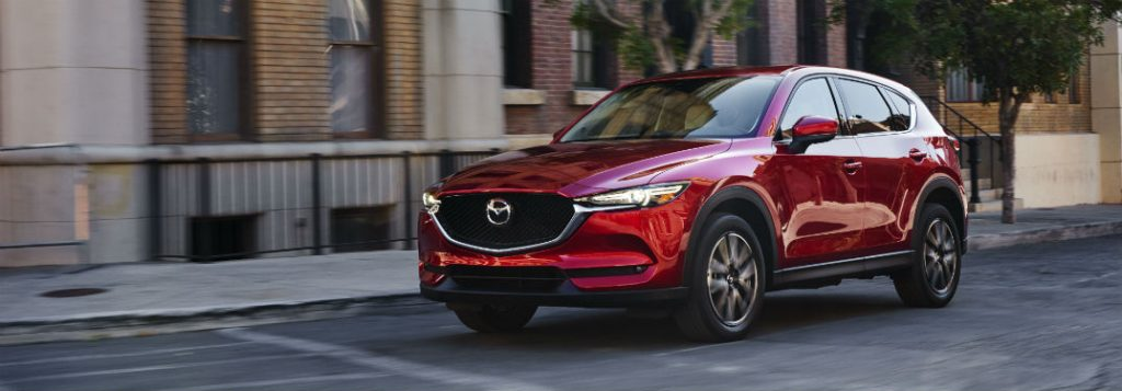 2018 mazda cx-5 parked on city street