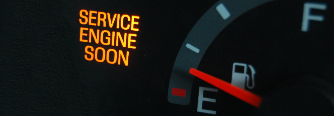 service engine soon light by fuel meter