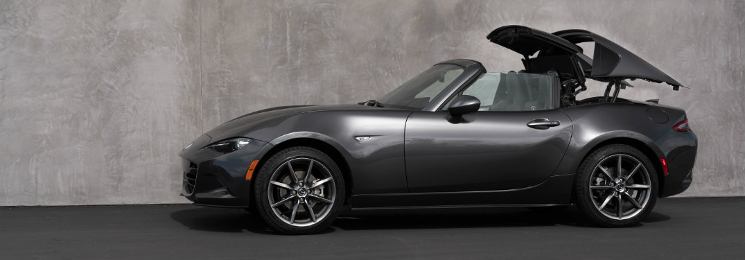 What is the difference between the Mazda Miata and Mazda Miata RF?