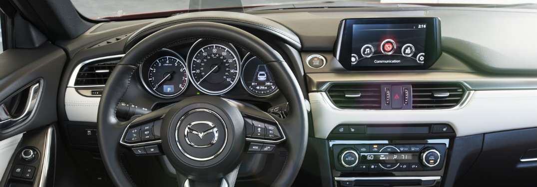 mazda steering wheel and dash