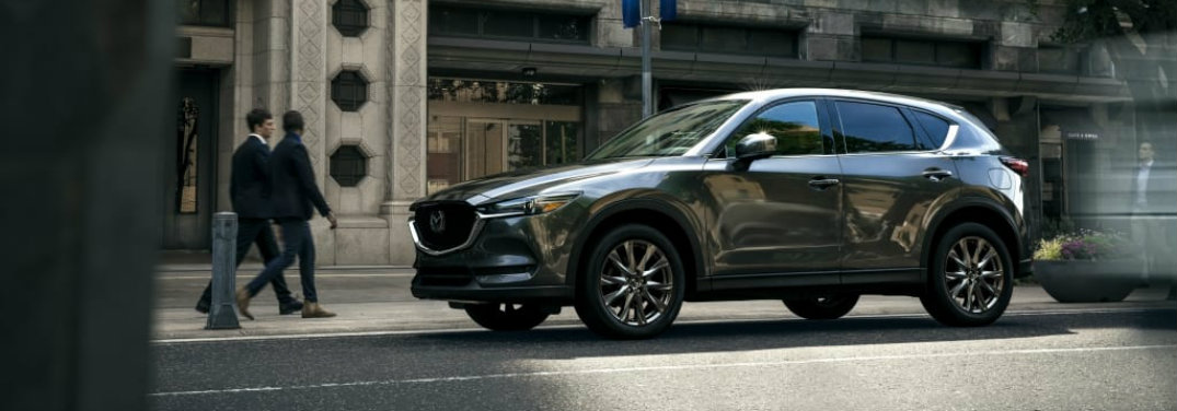 left side view of mazda cx-5 on street
