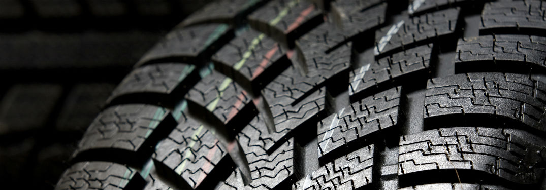 close up of tire with colored lines on it