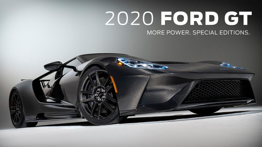 FORD GT SUPERCAR UPGRADED FOR 2020 WITH MORE POWER, NEW SPECIAL EDITION