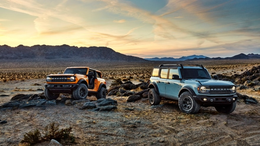 ALL-NEW 2021 BRONCO TWO-DOOR AND FIRST-EVER FOUR-DOOR MODELS: BUILT WILD SUVS WITH THRILLING 4X4 CAPABILITY, READY FOR FUN