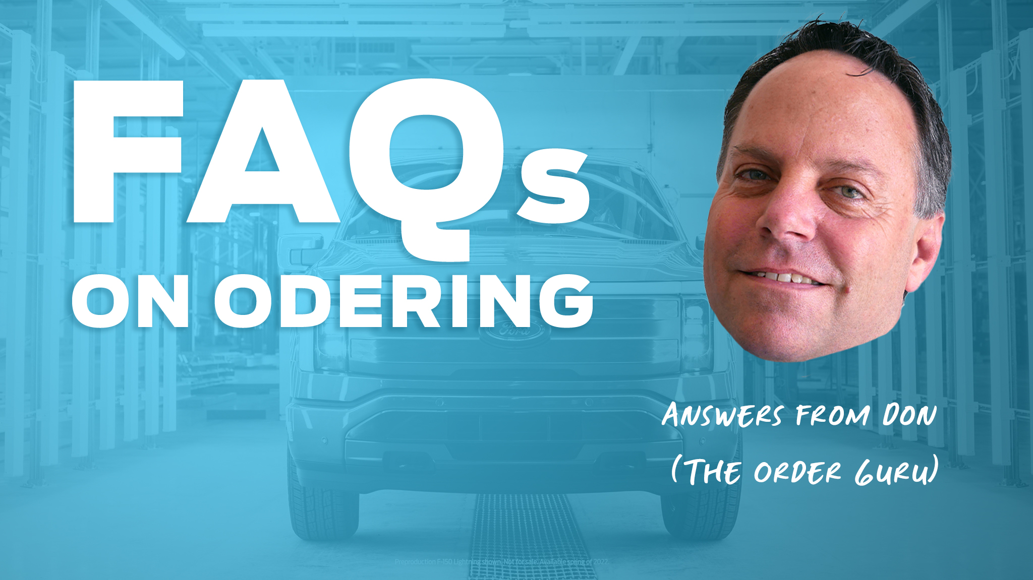 Frequently asked questions on Ordering a Vehicle