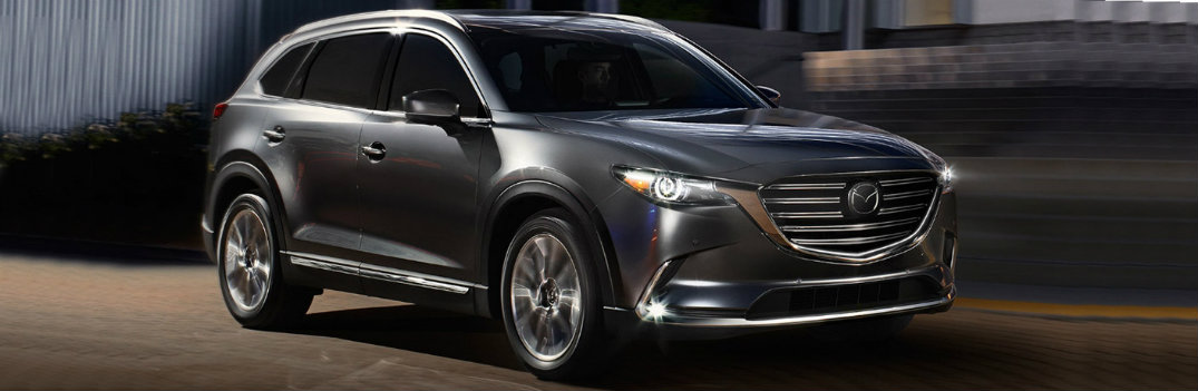 2018 Mazda CX-9 dark color on highway driving
