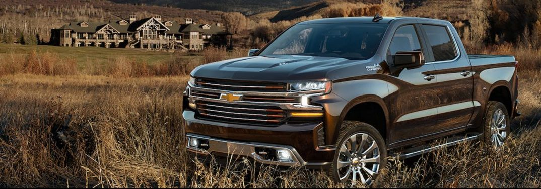 2019 Chevy Silverado parked off road in a field