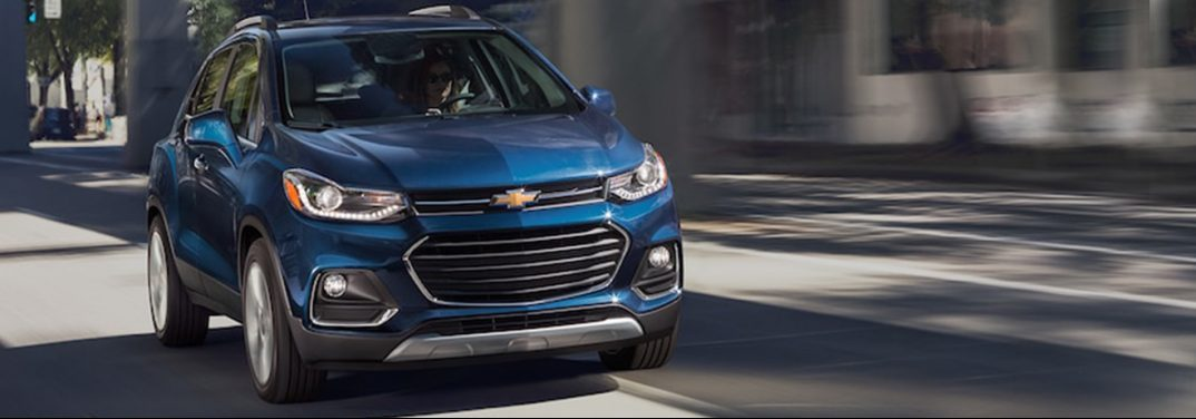 2018 Chevy Trax driving on a street