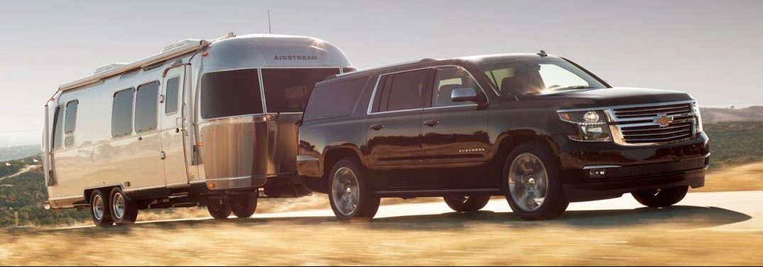 2019 Chevy Suburban towing camper