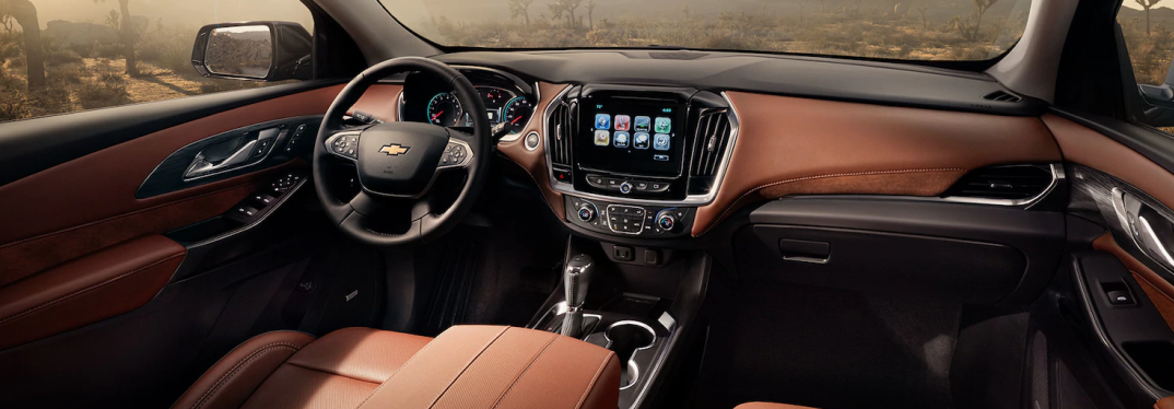 interior front of the chevy equinox