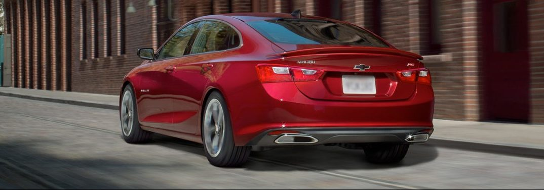 2019 CEhvy Malibu exterior rear in red