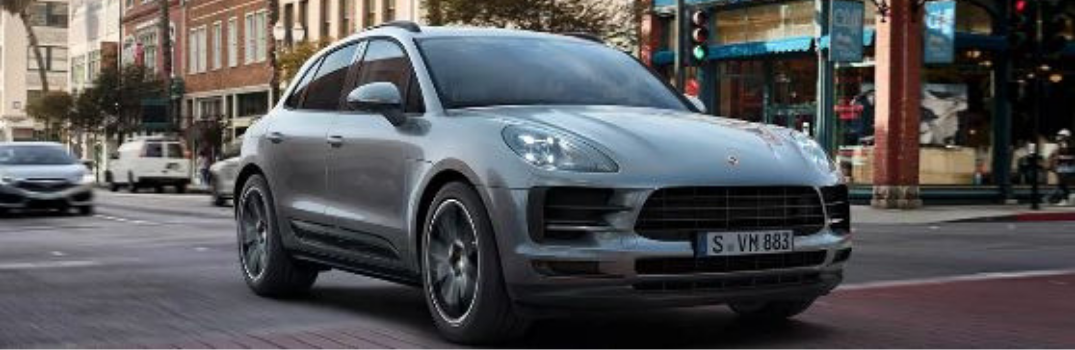 2019 Porsche Macan driving on the road
