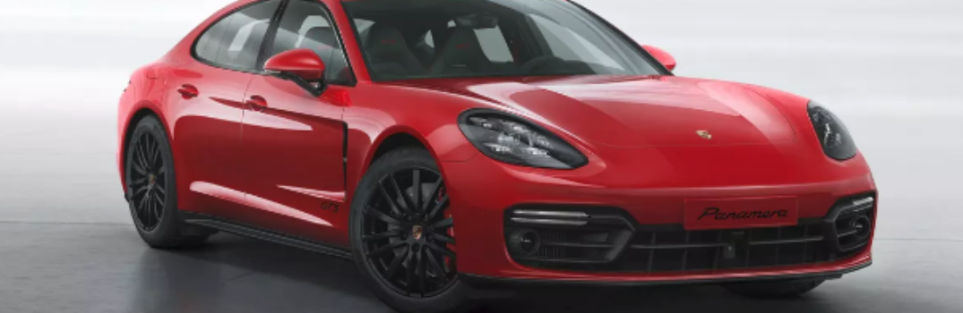 2019 Porsche Panamera GTS parked in white