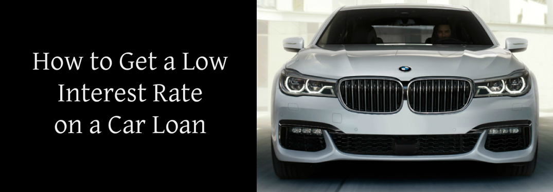 How to Get a Low Interest Rate on a Car Loan Title and a White 2018 BMW 7 Series