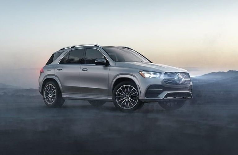 Exterior view of a gray 2020 Mercedes-Benz GLE