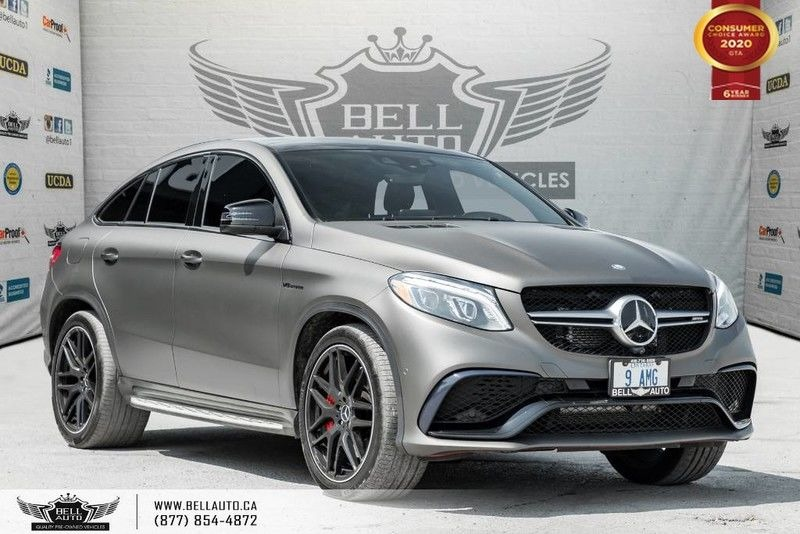 Exterior view of a silver 2016 Mercedes-Benz AMG GLE 63 in the Bell Auto Inc showroom