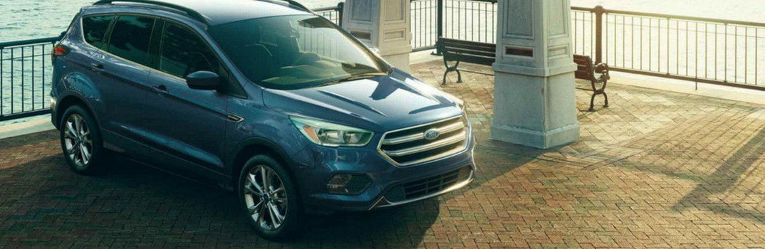 2018 Ford Escape parked inside.