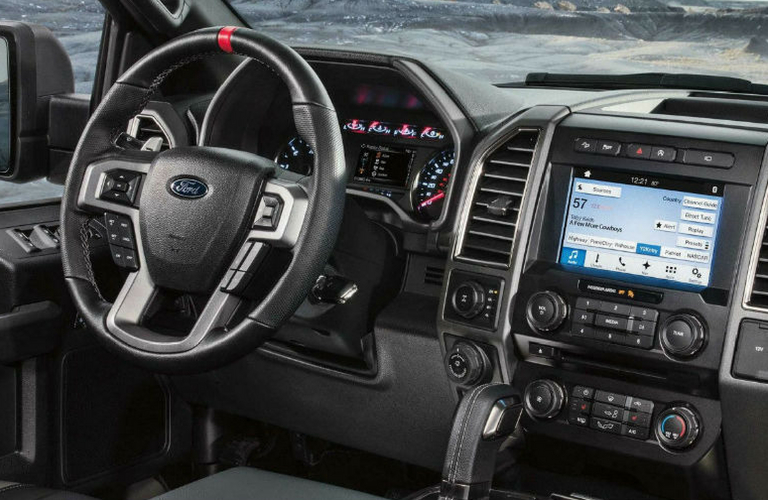 2018 Ford F-150 dash and wheel view