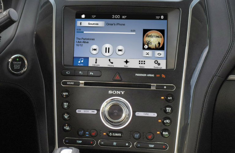 2018 Ford Explorer touch screen.