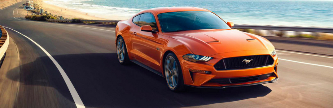 2018 Ford Mustang driving down road