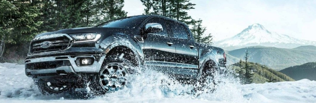 2019 Ford Ranger driving on snow
