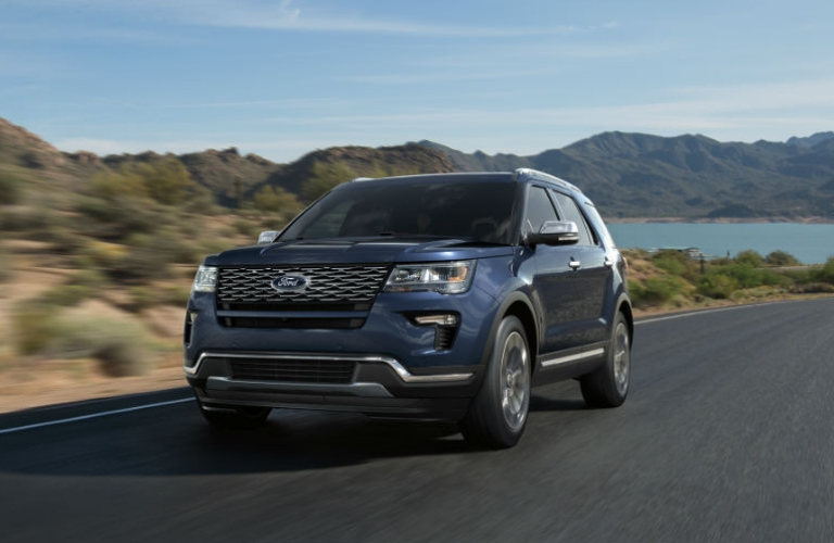 2018 Ford Explorer driving on a road