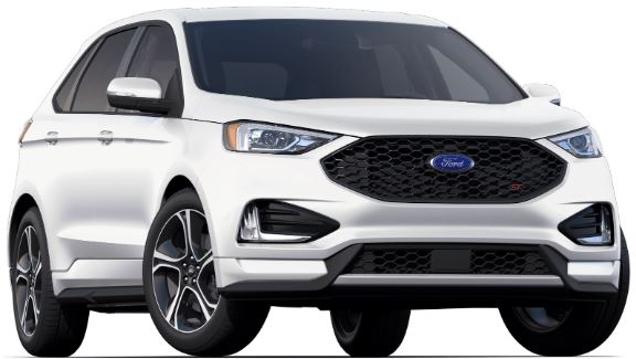 2019 Ford Edge White Platinum Premium