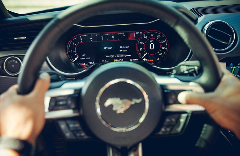 2019 Ford Mustang used to represent 2020 interior
