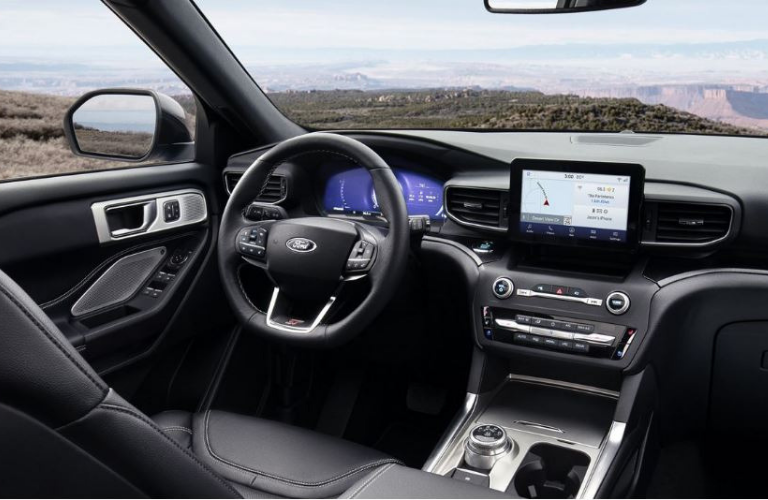 2020 Ford Explorer dash and wheel view