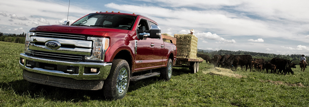 2019 Ford Super Duty parked on grass