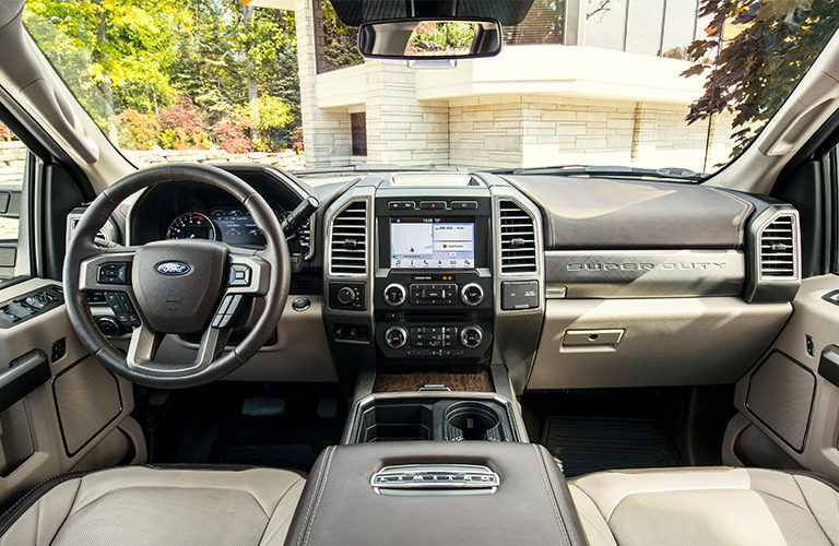 2019 Ford Super Duty dash and wheel view