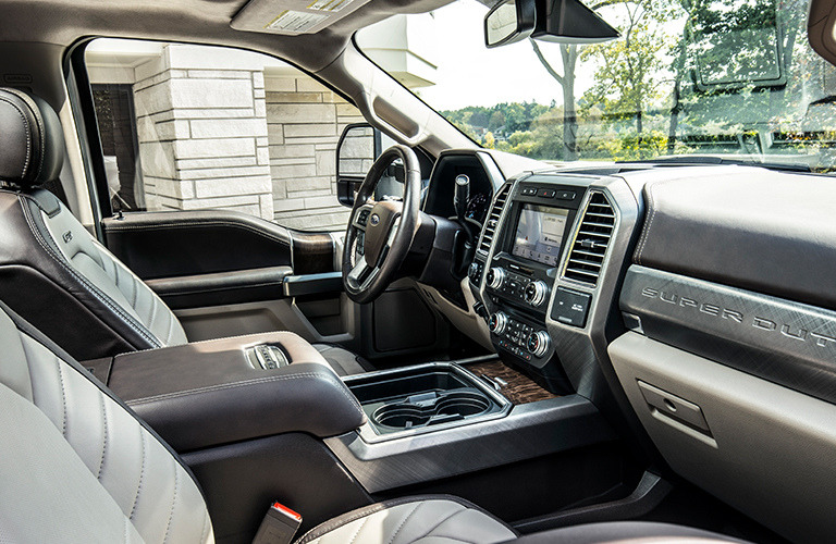 2019 Ford Super Duty side view interior front