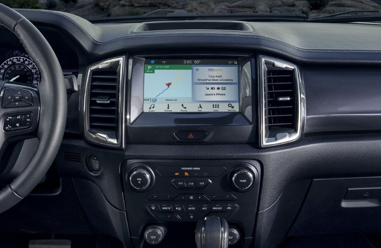 2019 Ford Ranger dash and screen