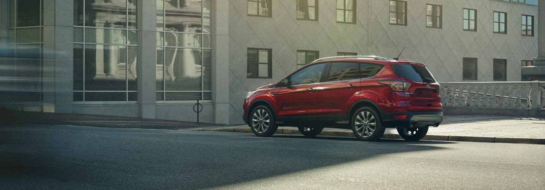 2019 Ford Escape in red parked outside