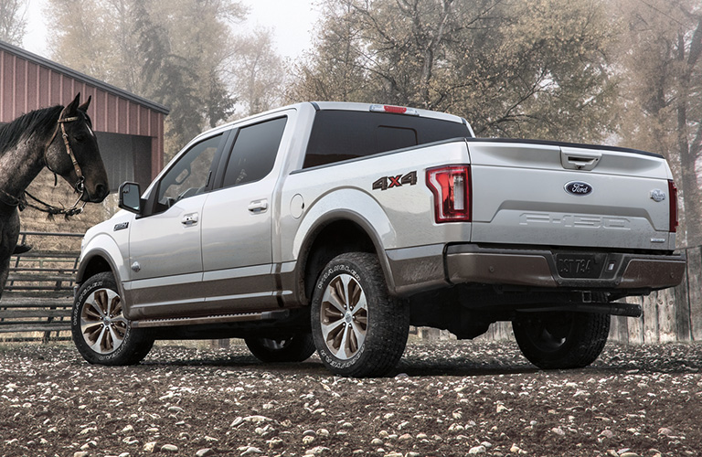 2020 Ford F-150 parked on the dirt
