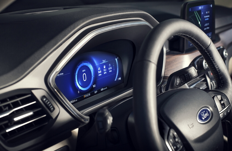 2020 Ford Escape steering wheel view