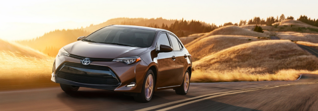 full view of 2019 toyota corolla driving